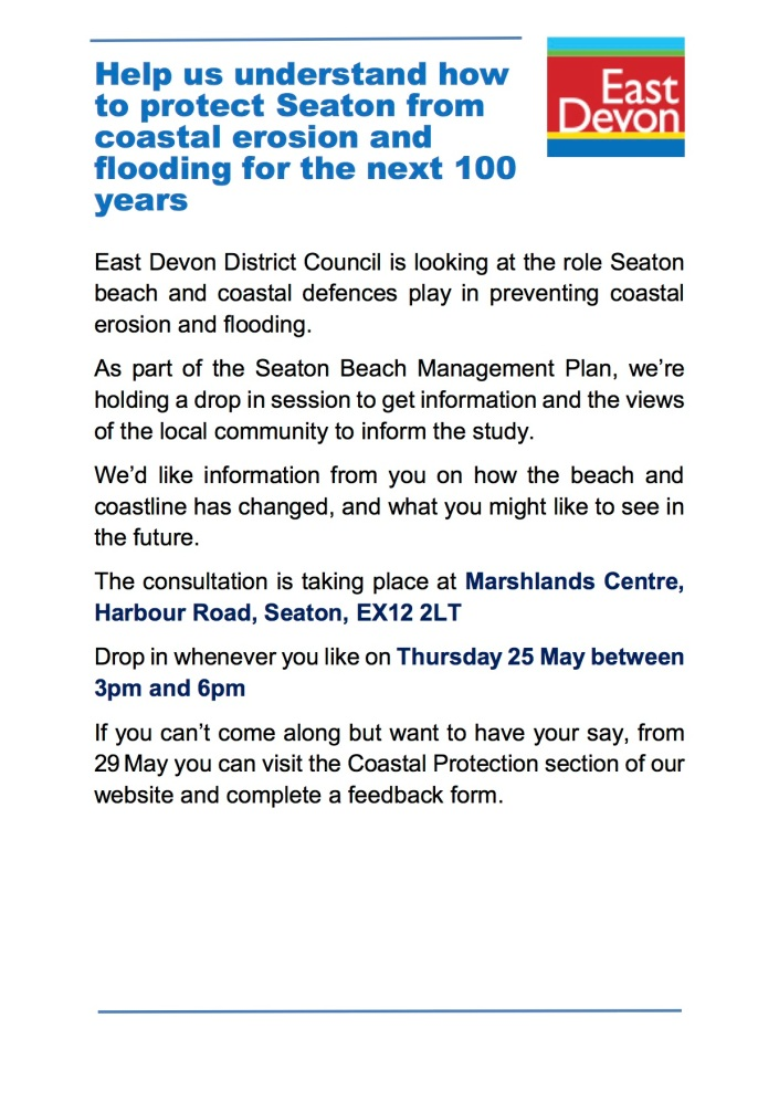 Seaton BMP Consultation Flyer 250517