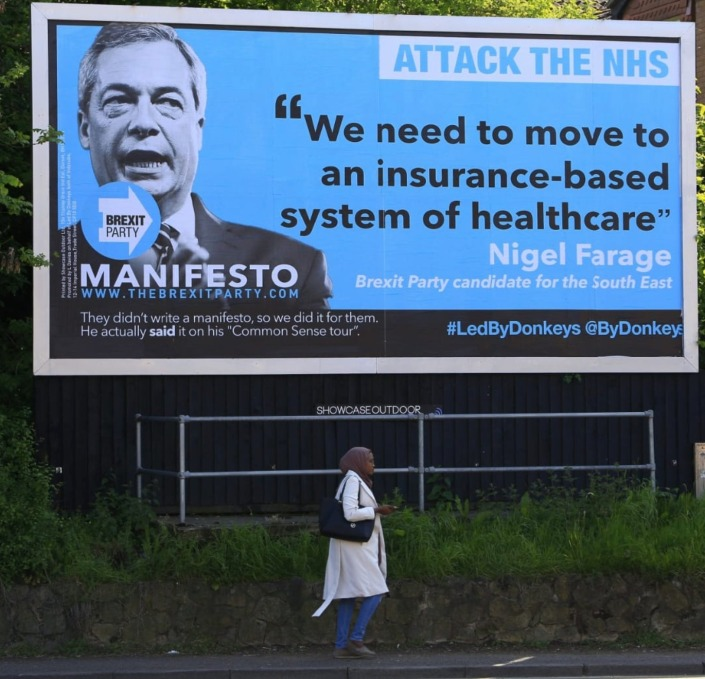 Farage NHS