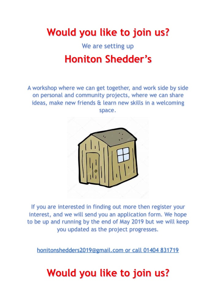 Honiton Shedders Flyer