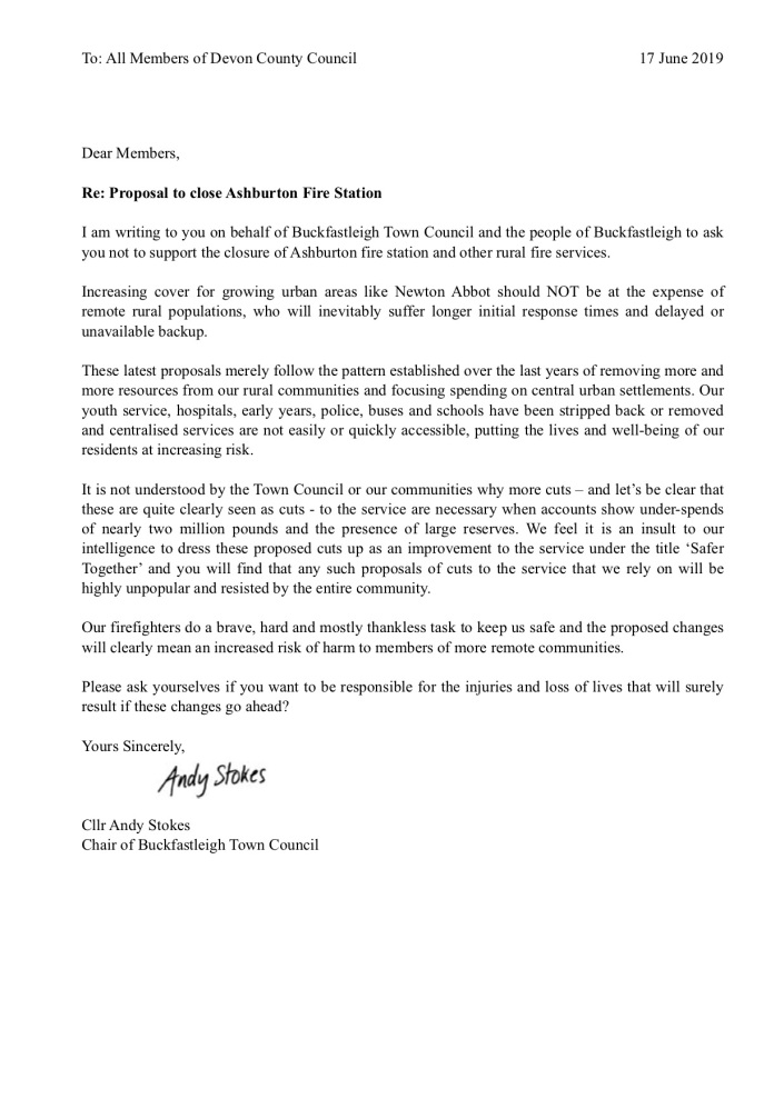 Letter to DCC Cllrs 17.07